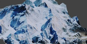 everest mount mountain model