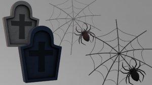 3D headstone spider