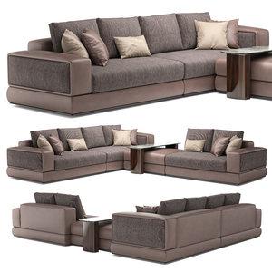 3D bentley westbury corner sofa