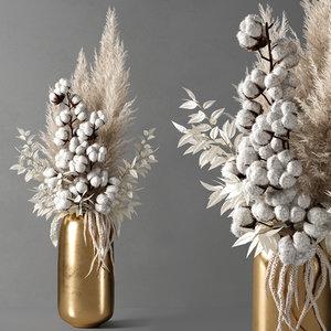 decorative vase 10 3D model