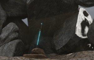 3D sword excalibur