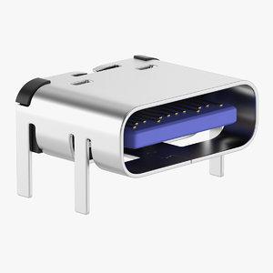 3D model micro usb 3