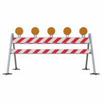 Traffic barrier with reflectors