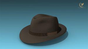 3D low-poly hat
