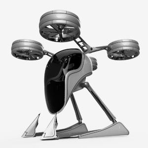 3D drone helicopter vehicle model