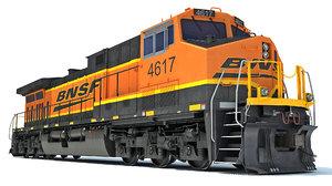 3D ac4400cw locomotive bnsf