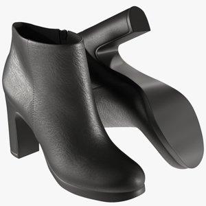 realistic women s shoes 3D model