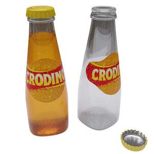 3D cocktail beverage crodino