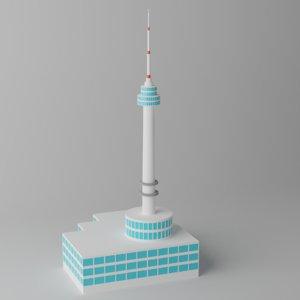 n seoul tower 3D