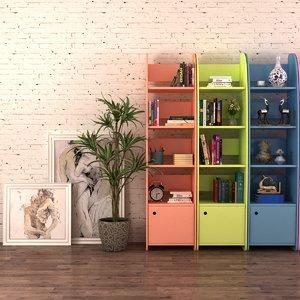 decorative housewares shelf potted 3D