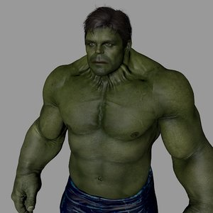 green character modeled 3D model
