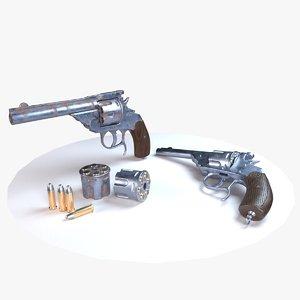 3D realistic revolver model