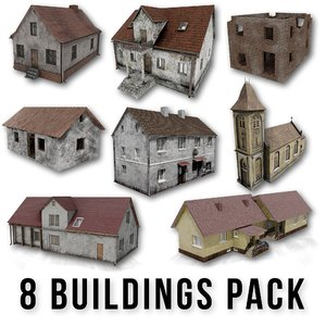 pack buildings 3D