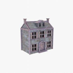 creepy old wood doll 3D model