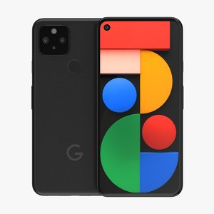 3D google pixel 5 phone