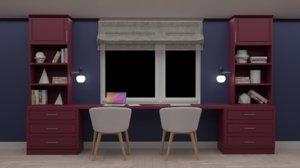 room desk 3D model
