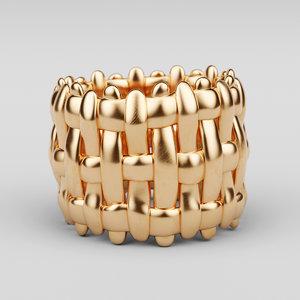3D ring intrecciato