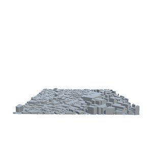 l cityscape urban city 3D model