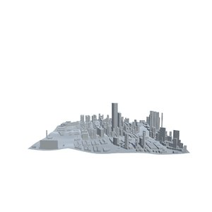 kong kowloon cityscape urban city 3D model