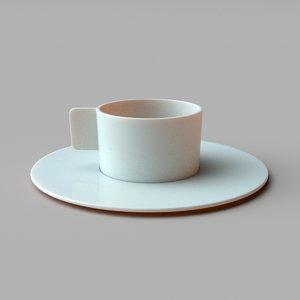 3D model coffee cup arita