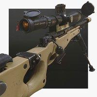 Modular sniper rifle pack LowPoly AWP