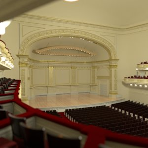 3D model main hall carnegie