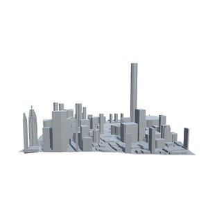 canada cityscape urban city 3D