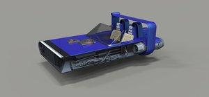 landspeeder speeder m-68 3D model