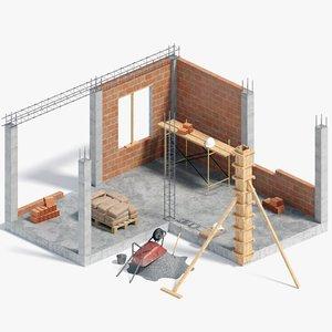 simple construction 3D model