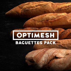 3D baguettes pack