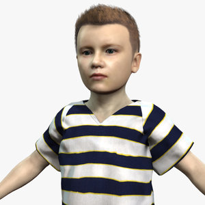 3D model boy small