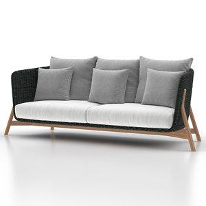 3 point sofa 3D model