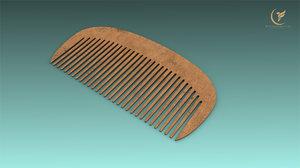 3D model low-poly comb