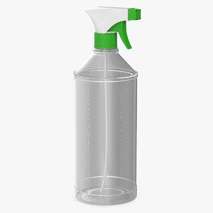 spray bottle cleaning v 3D model