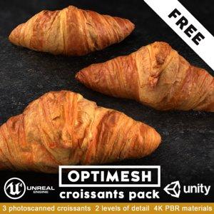 3D pack croissant model