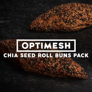 3D chia seed rolls pack model