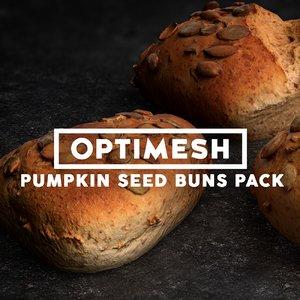 3D pumpkin seed rolls pack