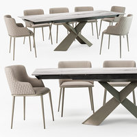 Tyron keramik drive table Magda ML armchair