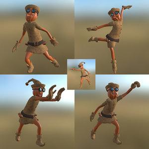 elf gnome pose 3D model