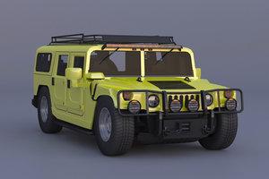 3D hummers h 1 suvs model
