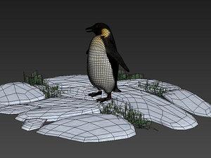 3D penguins bigfoot antarctic animals model