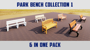benches architectural 3D model