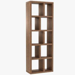 realistic berlin bookcase 70 3D model