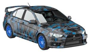 3D mitsubishi lancer evolution x model