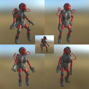 3D sci-fi man pbr