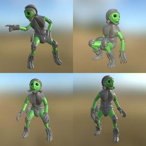 sci-fi man pbr 3D