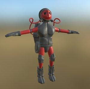 sci-fi man pbr model