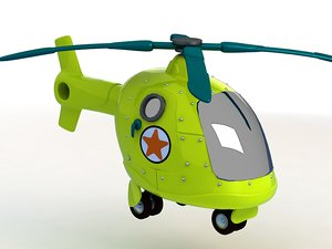 3D cartoon helicopter toy q model