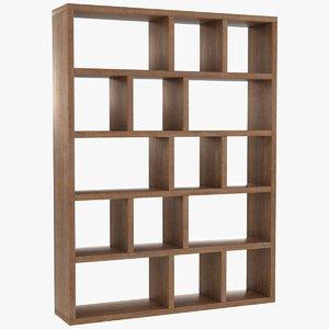 3D model realistic berlin bookcase 150