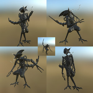 3D model alien concept pbr